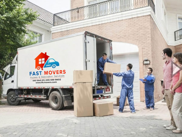 Moving service using truck